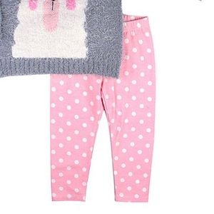 Nannette Matching Sets - Nannette Llama Embroidered Sweater & Leggings Set
